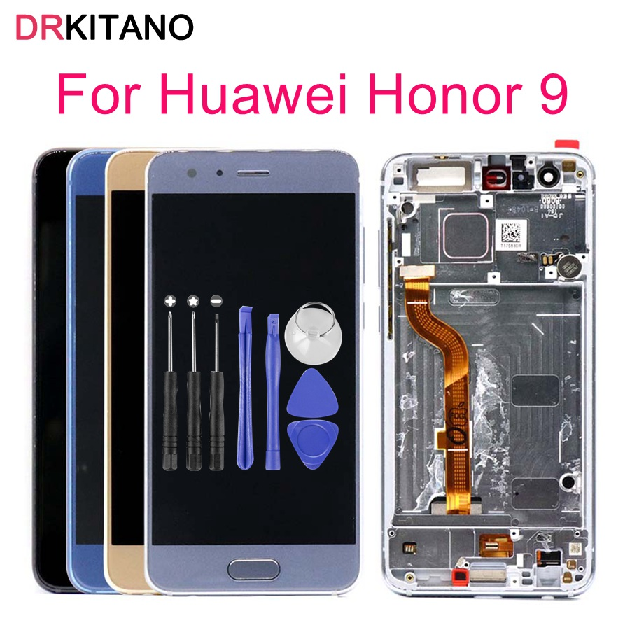 Honor 9 LCD Display Touch Screen Digitizer Assembly For HUAWEI Honor 9 LCD With Frame Honor9