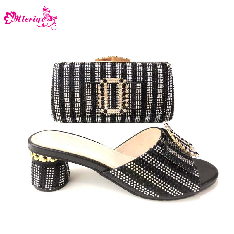 купить Arrival Matching Italian Shoes and Bags Set for Party In Women Shoes and Bags Set In Heels African Wedding Shoes and Bags Sets по цене 5317.4 рублей