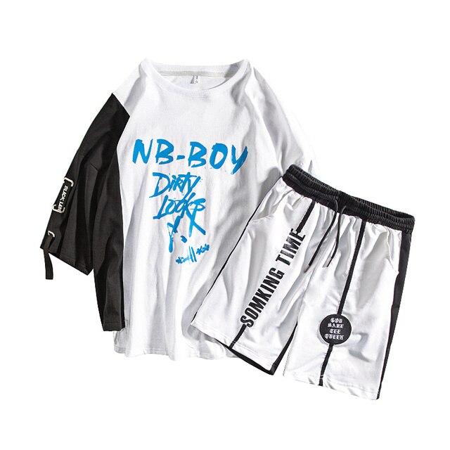 7f47101db Barato M XXXL 2019 de dos piezas conjunto top y pantalones casuales ...