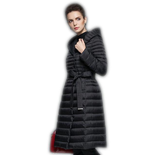 3 Colores Larga Sólido de Las Mujeres Abrigos de Invierno 2017 Nueva Llegada Con Capucha de Invierno Abrigo Elegante Doble de Pecho Femenino chaquetas Y1589