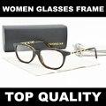 A estrenar de la alta calidad mujeres del diseñador marcos moda gafas de miopía óptica FrameOculos de grau lunette de veu