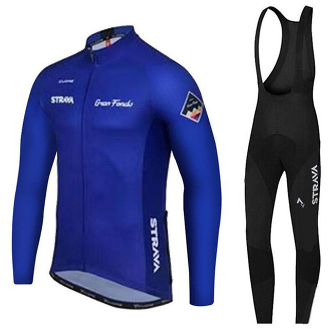 STRAVA lacivert Pro Takımı Uzun Kollu Bisiklet Formaları Ropa Ciclismo Maillot bisikletçi giysisi Mtb Bisiklet Bisiklet Giysileri