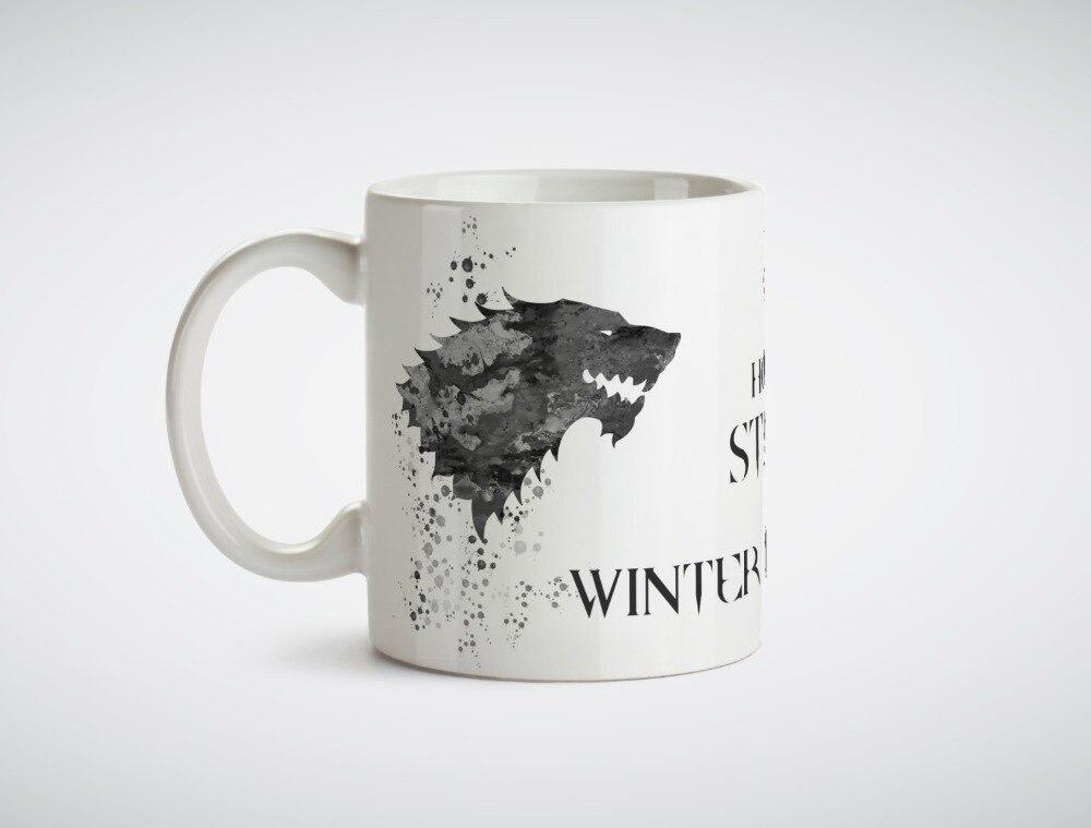 Game thrones House Stark coffee mugs morph gifts magical heat sensitive Black colour change morphing Tea mugen white mug