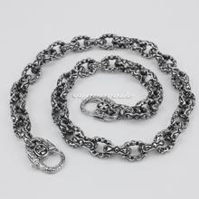 316L Stainless Steel Double Heart 14″ ~ 36″ Mens Biker Rocker Punk Wallet Chain 5S003WC 3P6