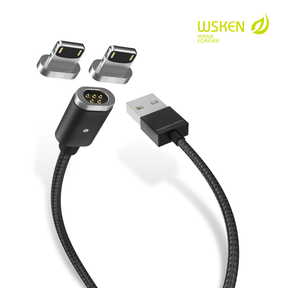 Buy Wsken Mini 1 Magnetic Micro Usb Cable Data Sync Kabel Ponsel Smartphone M 2 Pengisian Untuk Iphone X 8 7 6 S