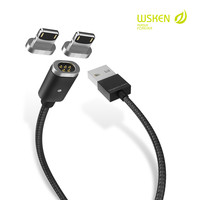 WSKEN 1m 2m Magnetic USB Charging Cable For IPhone X 8 7 6S 6 Plus 5