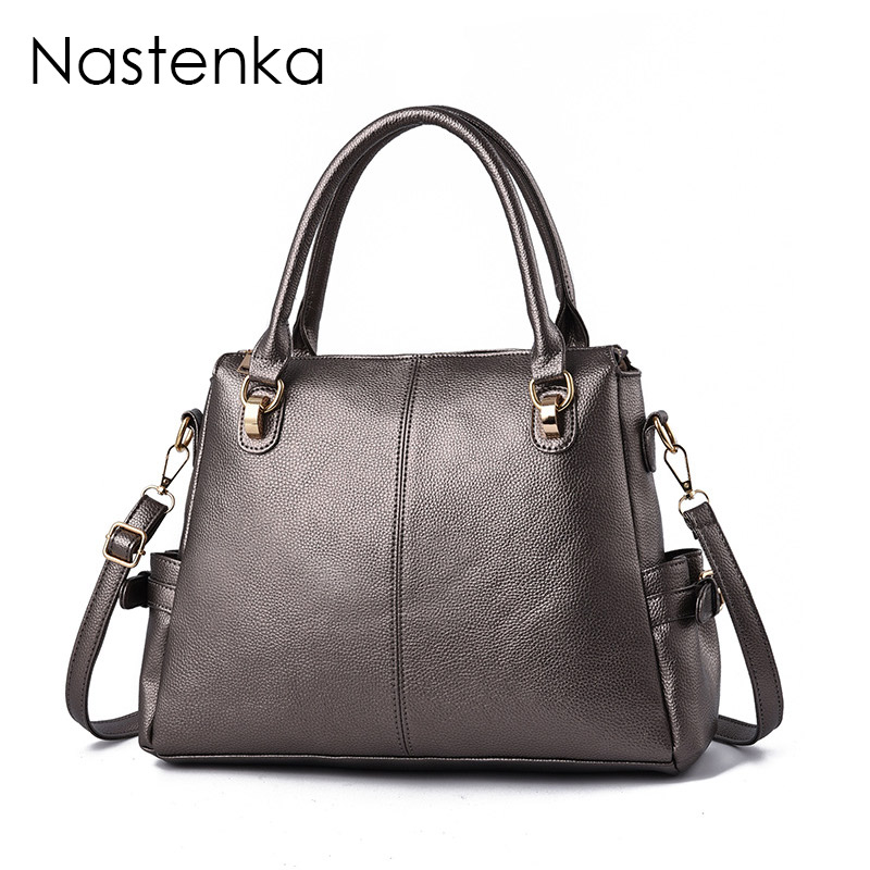 Nastenka Women Large Capacity Handbags Vintage Women Designer Crossbody Bags For Women Leather Shoulder Bag Tote Bolsa Feminina chispaulo women genuine leather handbags cowhide patent famous brands designer handbags high quality tote bag bolsa tassel c165