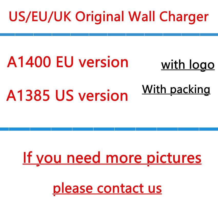 DHL 100set Lot Original Quality A1400 EU US Plug USB AC Power Charger Wall Adapter for