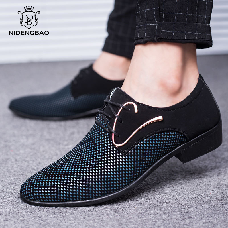 Brand Business Men Formal Shoes Artificial PU Leather Casual Shoes For Men Large Size 38-48 Pointed Dress Shoes Free Shipping