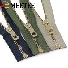 Gold Teeth 5# Eco-friendly Open-end Metal Zippers For Sewing Down Jacket Coat Zipper DIY Clothing Accessories Tailor Tools