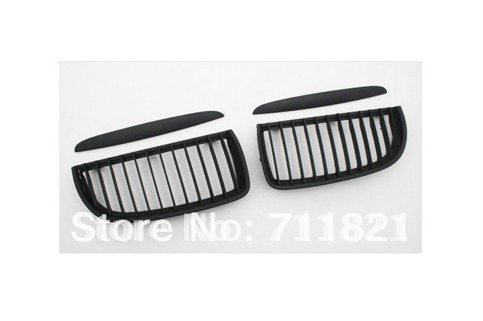 Euro Style Matte Black Front Grille For BMW E90 Pre facelift 3 Series 2005 2008