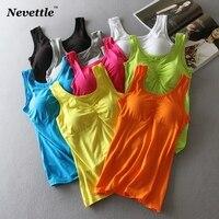 Женский топ с хлопковой подкладкой Nevettle, без рукавов, яркие цвета, летняя повседневная футболка