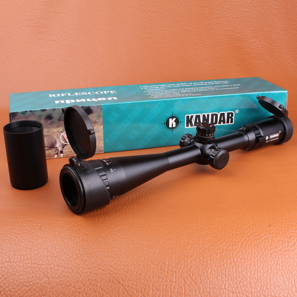KANDAR 4-16X40AOE Hunting Riflescope RGB Illuminated Mil-dot Wire Reticle Optical Sights Tactical Scope for Rifle Airsoft kandar 6 18x56q front tactical riflescope big objective with glass plate riflescope military equipment for hunting scopes