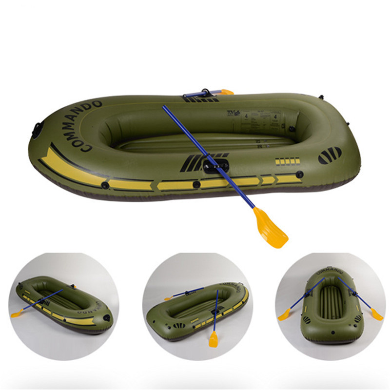Newest 1/2/3- 4 Inflatable Boat Fishing Boat Raft PVC kayak Rowing Boat Paddle Oar Pump Seat Cushion Bag Protable Rubber Boat oar toddler