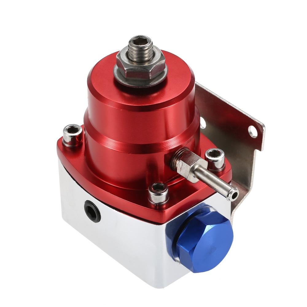 Universal Adjustable 0-160PSI AN6 Fitting EFI Fuel Pressure Regulator Kit with Line Hose universal auto fpr an6 fittings fuel regulator red 7mgte mkiii with hose line fuel pressure regulator