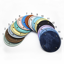 10PCS Bag Accessories Leather Round Bottom Handmade DIY Replacement Bottoms for Bucket CrossBody Handbag 14*14cm