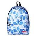 Preppy Style Canvas Printing Backpack Women School Bags for Teenage Girls Cute Bookbags Rhombus Portable Laptop Backpacks Female
