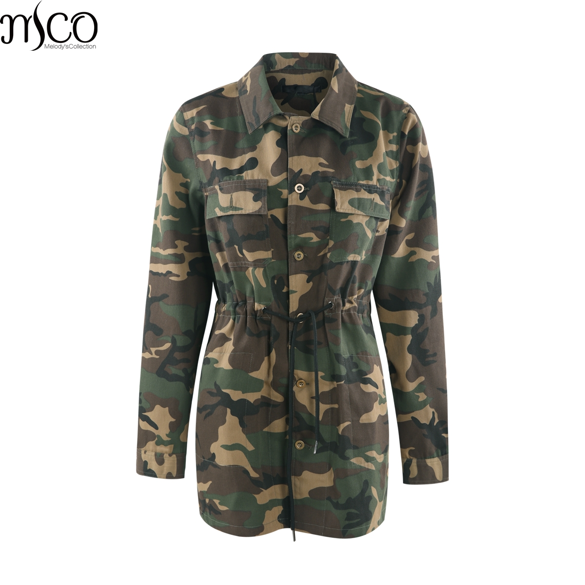 25ca4fcece0 MCO 2018 Camouflage Plus Size Women s Jacket Casual Oversized Military  Female Long Outwear Basic Big Women Jackets 5xl 6xl 7xl