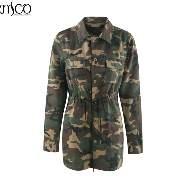 af071eadca4 MCO 2018 Camouflage Plus Size Women s Jacket Casual Oversized Military  Female Long Outwear Basic Big Women Jackets 5xl 6xl 7xl