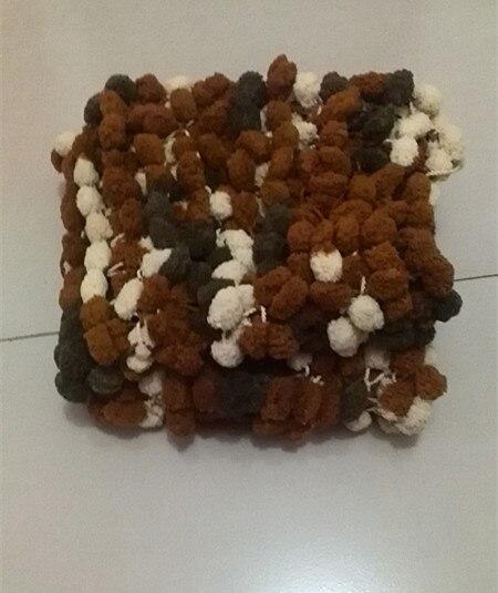 Mini Blanket Pom Pom Textured Rug Mat Prop Newborn Prop