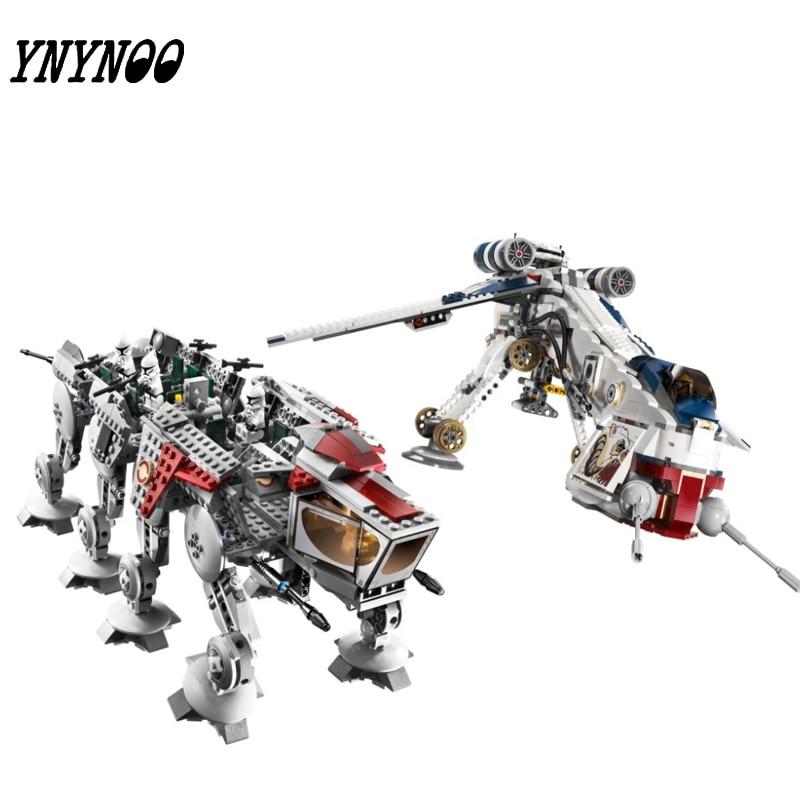 (YNYNOO) 05053 New 1788Pcs Genuine Star War Series The Republic Dropship Set Building Blocks Bricks Children Toys 10195 rollercoasters the war of the worlds