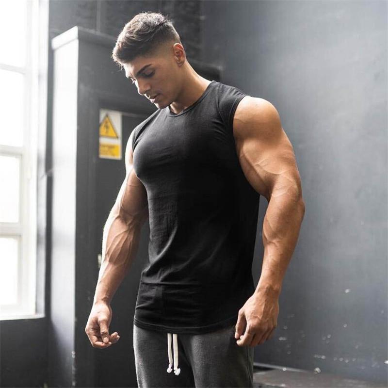 Muscleguys 2019 Brand mens sleeveless vest Summer men   Tank     Tops   Clothing Bodybuilding Undershirt Casual Fitness   tank     tops   tees