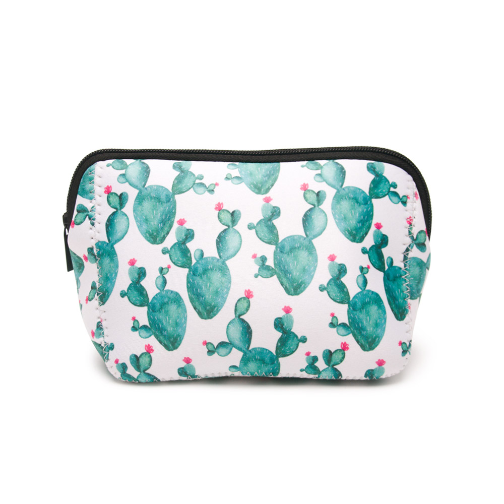 0128ee670d0 Triangle Cactus Cosmetic Bag Wholesale Blanks Neoprene Green Cactus Makeup  Bag Women Accessories Handbag Free Shipping DOM106529-in Cosmetic Bags    Cases ...