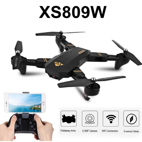 Sale Time RC Dron Visuo XS809W XS809HW Mini Foldable Selfie Drone with Wifi FPV 0.3MP or 2MP Camera Altitude Hold Quadcopter