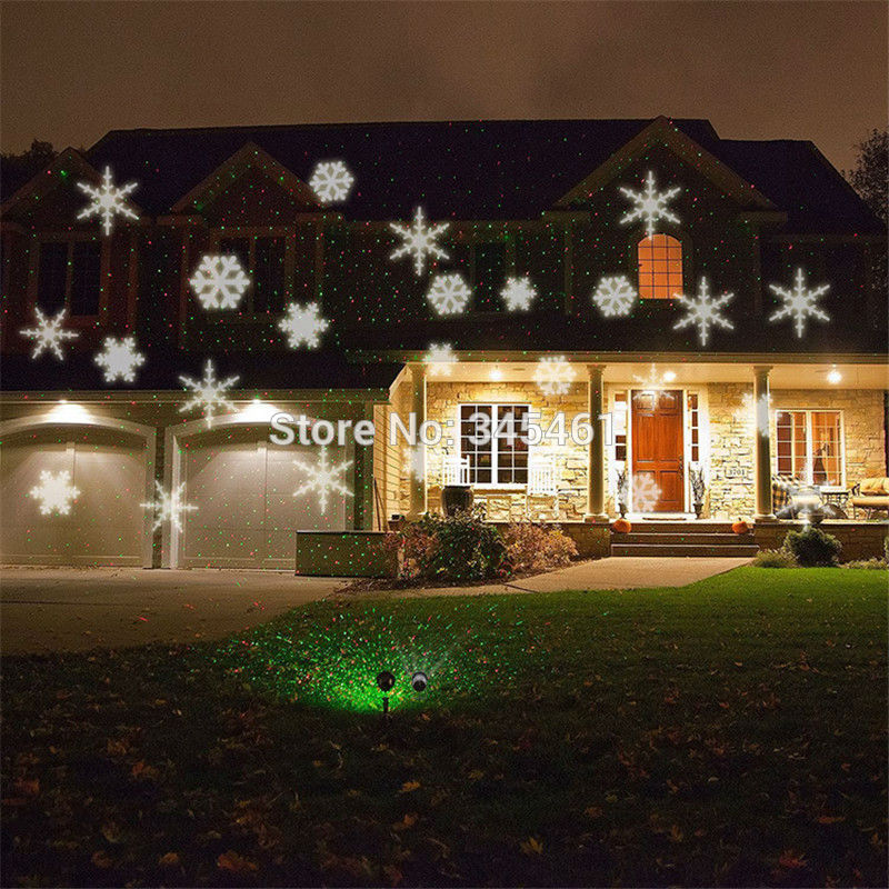 Led Snowflake Projector Lights Christmas House Garden Laser Projectors Promotion In Stage Lighting Effect From On Aliexpress Alibaba