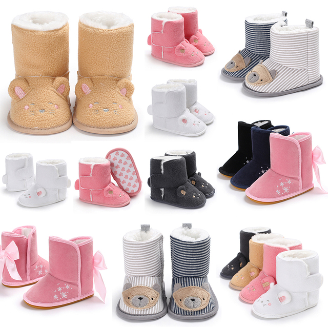 ea21186b9af7 2018 Lovely Baby Girl Boy Snow Boots Winter Cute Booties Infant Toddler  Newborn Crib Shoes 0-18M