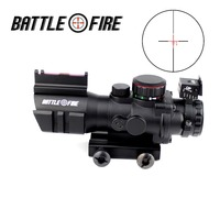 4x32 Acog Riflescope 20mm Dovetail Reflex Optics rifle Scope Tactical collimator Sight For Hunting Airsoft Sniper Magnifier
