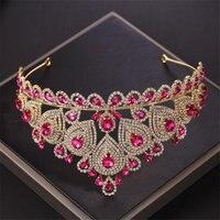 Pageant Crown tiara dress Hair accessories luxury baroque rhinestone headband Bridal hair Jewelry Head piece Tiaras wedding