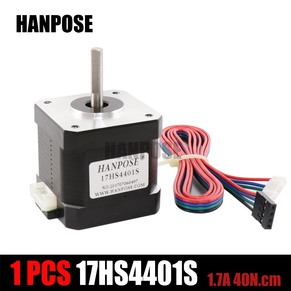 3D printer 4-lead Nema17 Stepper Motor 42 motor Nema 17 motor 42BYGH 1.7A 65oz.in (17HS4401S) motor for CNC XYZ with DuPont line