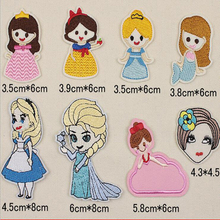 Girls clothes baby Badge embroidery lovely girl patch deal with it T shirt iron on patches for clothing