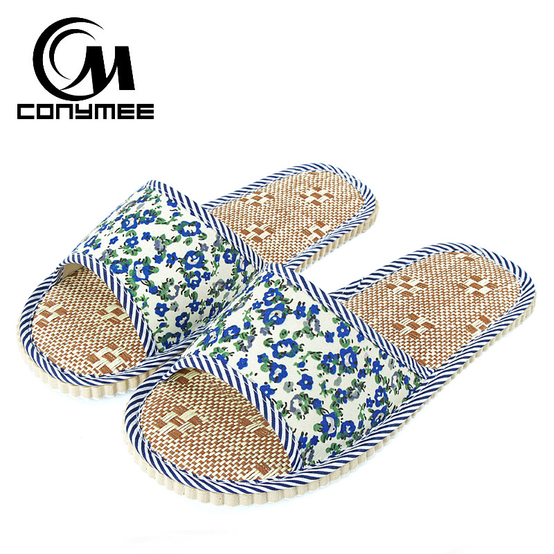Summer Women Linen Slippers Home Shoes QYM-PMSH