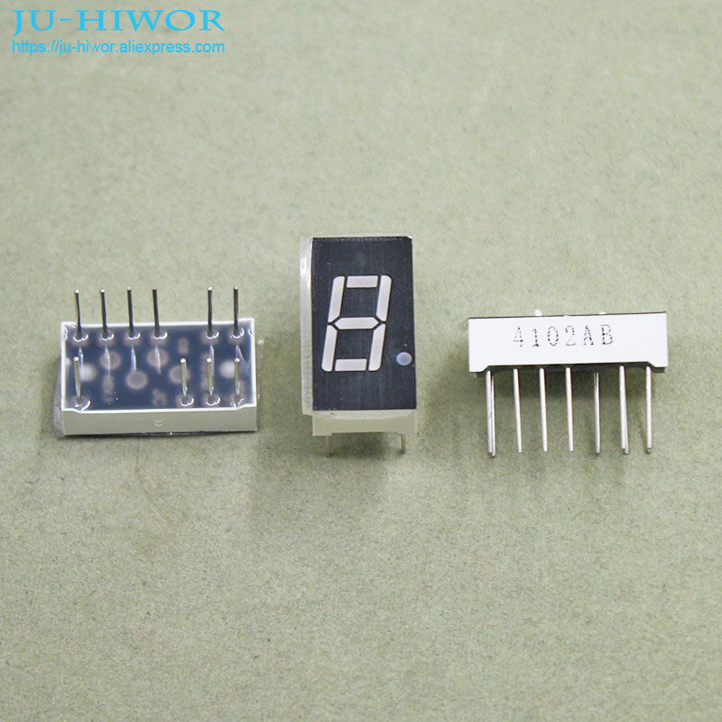 (10pcs/lot) 10 Pins 4011AB 0.4 Inch 1 Digit Bit 7 Segment Blue LED Display Share Common Cathode Digital Display