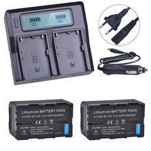 Batterie de caméra Rechargeable U30 BP-U30 BP + LCD, 2 pièces, chargeur rapide pour Sony BP-U60 XDCAM EX PMW 100 150 160 PMW EX1 EX3 F3 F3K