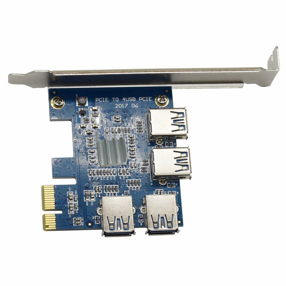 cnkesin PCI-е для шины PCI-E и адаптер 1 оборот 4pci-e в слот PCI-е от одного до четырех с USB3.0 добыча райзер карта специальный