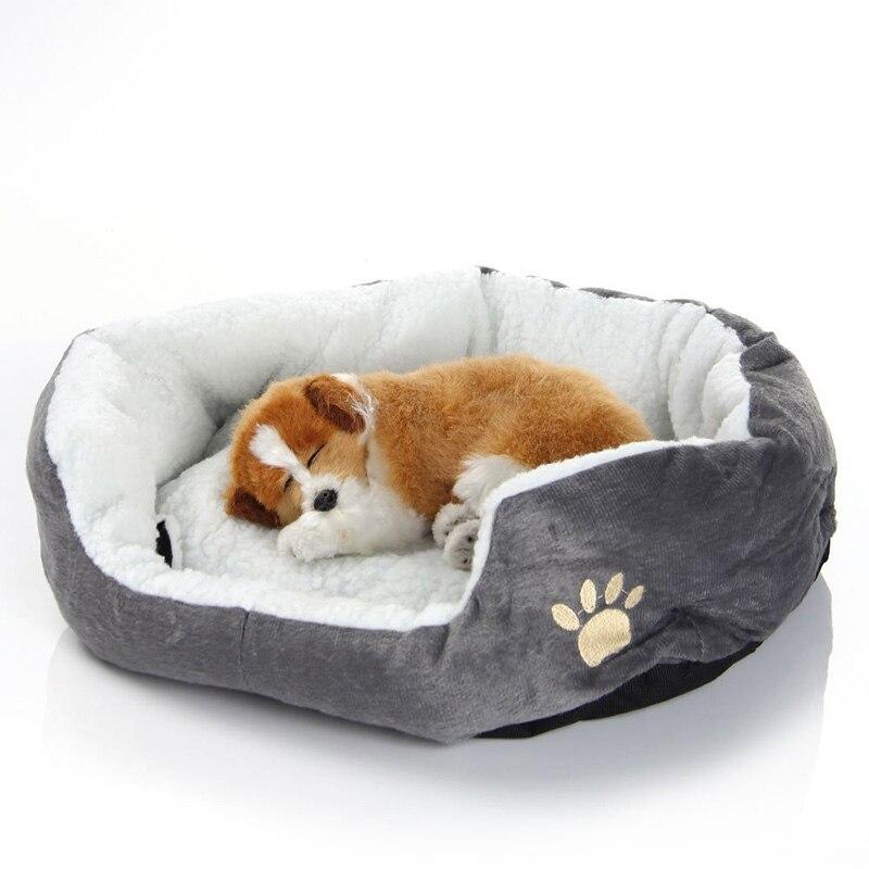 Hund Bett Sofa Matte Kennel Doggy Warm Haus Winter-kinderbett Pet schlaf Bed Haus für Welpen Kleiner Hund Decke Kissen Korb Liefert