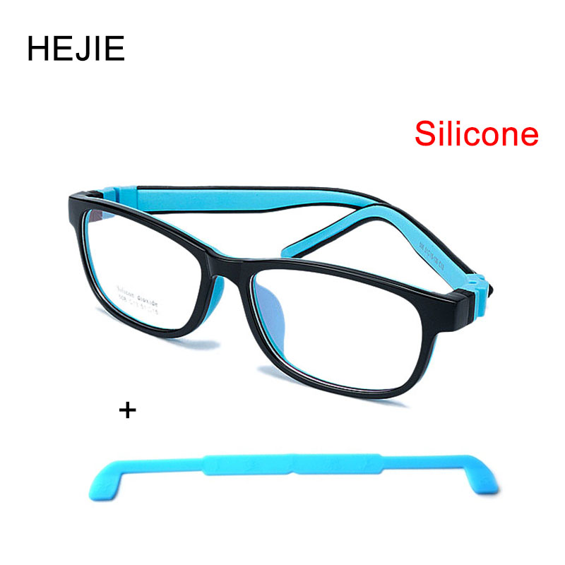 Factory Price Kids Safe Silicone Optical Eyeglasses Frames No Screws Unbreakable Boys Girls With Chain Size 51-15-130 Y1069