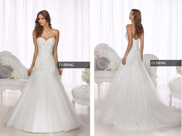 summer style romantic new sexy a-line casamento beading vestido de noiva  2018 hot sale sweetangel Bridal Gown bridesmaid dresses 0eab140974c3