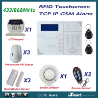 433/868MHz Web IE Browse and Android /Iphone Mobile APP Control GSM Security Alarm System Home Safety Device