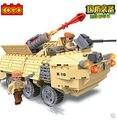 Cogo 13329 Series militar carro blindado tanque 219 Building Block define DIY educacional tijolos brinquedos