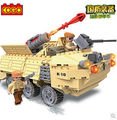 Cogo 13329 serie militar blindada tanque del coche 219 unids Building Block Sets Educational DIY juguetes de los ladrillos