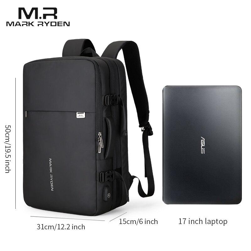 Дизайнерский мужской рюкзак с зарядкой через USB, с защитой от кражи, рюкзаки для путешествий, большая вместительность, мужская деловая сумка... - 5