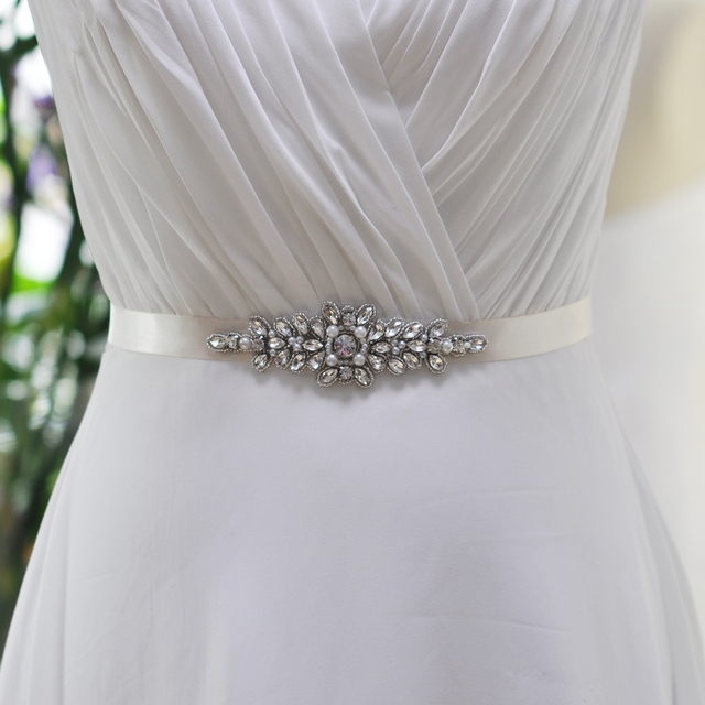 TOPQUEEN Women's Handmade Crystal Rhinestones Bride Bridesmaid Bridal Sashes Belts S270 For Wedding Evening Party Gown Dresses