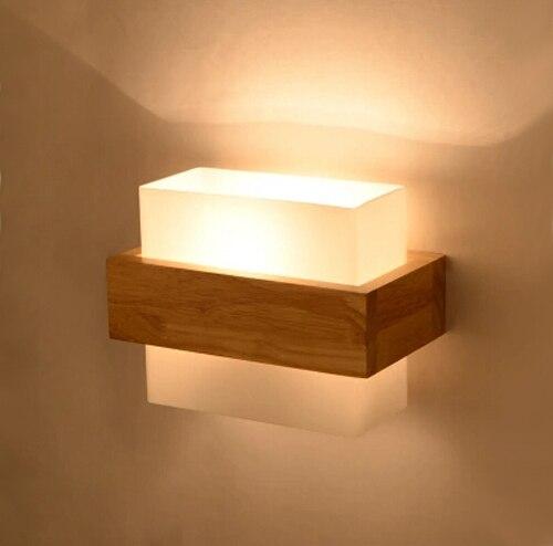 estilo de europa del norte aplik madera led lmparas de luz de pared para la iluminacin - Lampara Pared