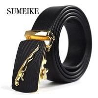 2016 Fashion Designer Belts Men Sliding Buckle Ratchet Belt Automatic Fashion Man Gold Belts For Man