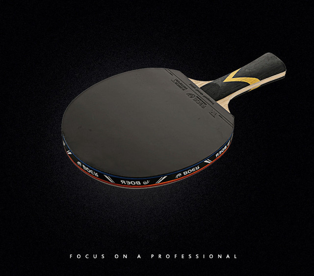 BOER Shake-hand Table Tennis Racket Double Face Ping Pong Paddle Waterproof Pouch  Red 95426a6be5