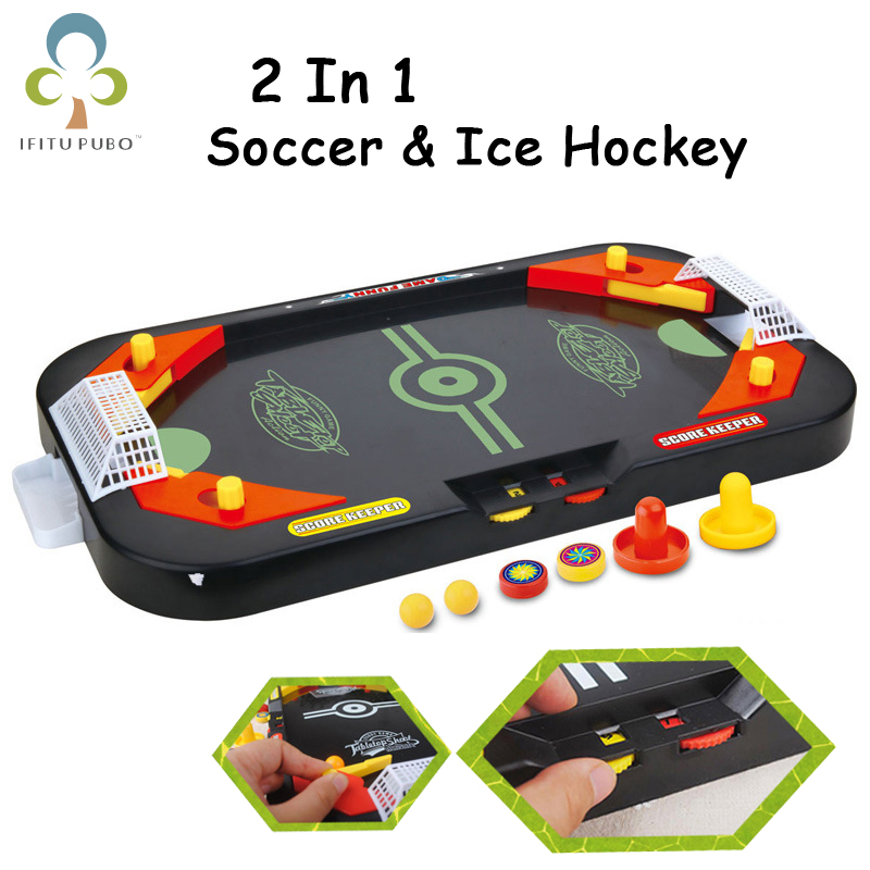 2 in 1 Mini Ice Hockey Table Soccer Table Pinball Table Desktop Battle Tournament Game Multiplayer Interactive Game  GYH